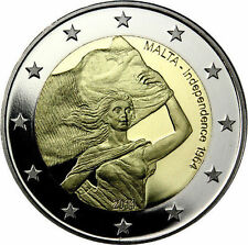 * 2 EURO COMMEMORATIVE - UNC - MALTE 2014 - INDEPENDANCE