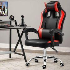 Sedia Poltrona Gaming Scrivania Ufficio Reclinabile Girevole Direzionale Rosso