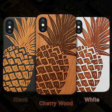 Pineapple Wood PhoneCase For iPhone 13/11/11 Pro/Max/Mini, X/XS/XR/XS Max