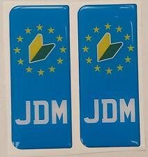 2x JDM Jap Japanese Leaf Japan Gel 3D Licence Number Plate Side Badges Sticker