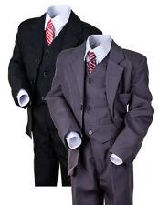 5tlg. Kinder Fest Anzug Kommunionsanzug Smoking NEU Jungen Kinderanzug Hochzeit
