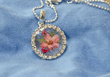HAND MADE JEWELLERY,REAL FLOWERS  PENDANT-(ROUND)