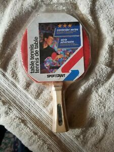 Vintage Sportcraft Ping Pong Table Tennis Contender Series Paddle New 19119