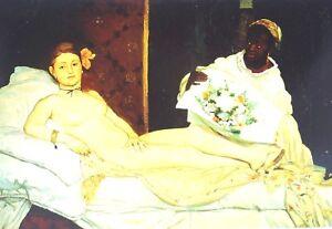 Edouard Manet Olympia 1863 Erotic Art Paris Card Nude Collectable 18cm x 12cm