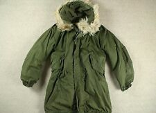 VTG M-1951 M51 US ARMY FISHTAIL PARKA W/ FRIEZE LINER & HOOD KOREAN WAR MOD M