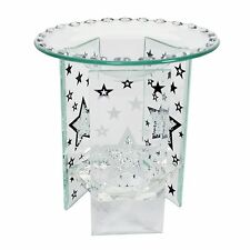 Village Candle Glass Wax Melt Burner - Star Design LIMITED STOCK!
