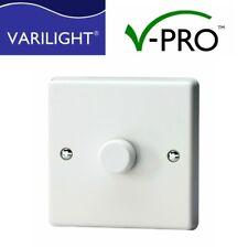 Varilight LED V-PRO Dimmer Switch 1 gang 1 or 2 Way Trailing Edge 0-300W LEDs