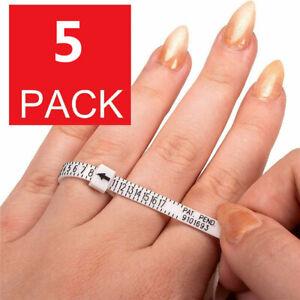 2-Pack Ring Sizer Measure Tool Gauge Plastic Finger Sizing Finder Reusable 1~17