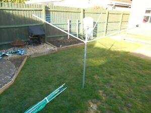 Out door clothes airier dry washing line rotary camping caravan etc