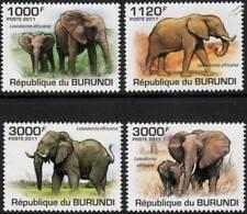 AFRICAN ELEPHANT (Loxodonta africana) Wild Animal Stamp Set (2011 Burundi)