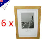 6 x A4 Size Wooden Timber Document Certificate Photo Picture Glass Frame Sets
