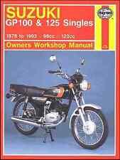 Suzuki GP100, GP125 1978-1993 Repair Haynes Owners Workshop Manual