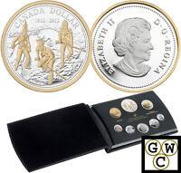 2012 Spec Ed Proof D$ Set 200th Ann. War of 1812 All .9999 Fine (NT) (12936)