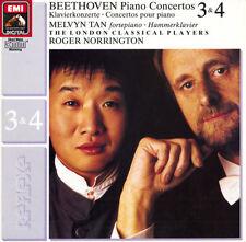 BEETHOVEN Piano Concertos 3 & 4 MELVYN TAN Norrington EMI 7498151 Digital $4 S&H