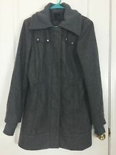 Buffalo David Bitten Coat Outerwear Womens Gray Wool Fitted Warm Zipper Size M