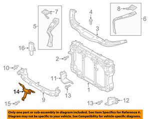 MAZDA OEM CX-5 Radiator Core Support-Center Hood Lock Latch Support KD535215Y