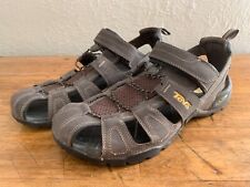 Teva Men's sz 13 Forebay Fisherman Sport Hiking Sandals Shocpad Walking Brown