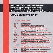 USA Concerts East: Andrea Centazzo John Zorn Chadbourne (CD Dunya) IMPORT JAZZ