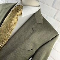 JOS A BANK Signature Col Men's Sharkskin Gold Wool Blazer Sport Coat 44 L P7705