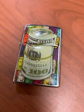 Used 100 Dollar Rolled Up Money Mechanical Windproof Lighter Case