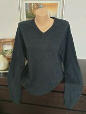 Ladies Grey Pure Cashmere UNIQLO Jumper Size XL