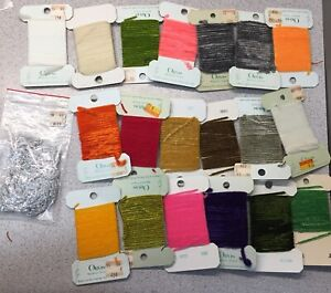 Large Fly Tying Lot Of ORVIS Brand Chenille, Sparkles, Etc 20pc Lot 2