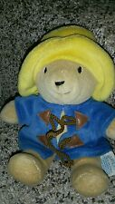 "Eden Paddington Bear 8"" Plush Toy Stuffed Animal euc q5"