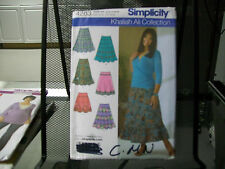 7283 SIMPLICITY SEWING PATTERN UNCUT MISSES/WOMWN'S SKIRTS AND TRIM VARIATIONS