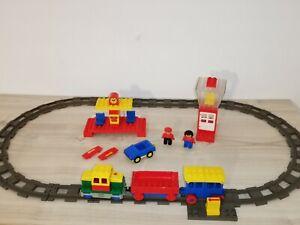 Duplo 4,5V Motor Eisenbahn Set 2730 E Lok alle Figuren Zug My first train Set kg