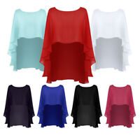 Wedding Capes Womens Chiffon Cape Shawls and Wraps Shrugs For Evening dress Prom
