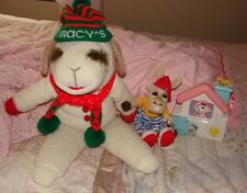 "LAMB CHOP MACY'S PLUSH, CHARLIE HORSE & MUSICAL WIND UP TOY ""SMALL WORLD"" 1993"