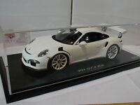 """Spark 1:18 # Porsche 911 (991) GT3 RS Baujahr 2015 in """" weiß """" 500 pcs.  RAR !!"""