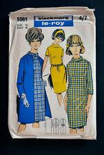 Vintage Blackmore Le-Roy 5061 pattern * size 16 bust 36 1960s knee length dress