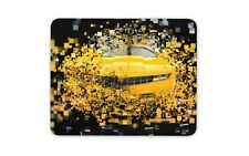 Cool Yellow Sports Car Mouse Mat Pad - Camaro Dad Brother Gift Computer #8802