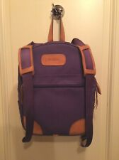 Jon Hart Backpack Purple Coated Canvas with Leather Accents