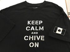 KCCO Keep Calm And Chive On Canadian Flag Short Sleeve T-shirt XL X-Large P3