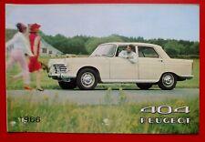 PEUGEOT 404 1966 Brochure Prospekt Catalogue Dépliant