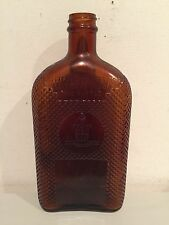 Vintage Bottle Empty Glass Amber Color Continental Distilling Corp, USA RARE!