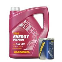 5L Mannol Premium 5w30 Fully Synthetic Longlife Engine Oil + Engine Flush