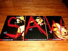 Saw Signed Original Horror Movie Poster Set Tobin Bell Billy The Puppet Jigsaw +