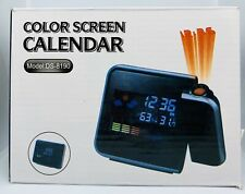 Color Screen Snooze Calendar Digital Led Clock Alarm Time Model:2618T Black