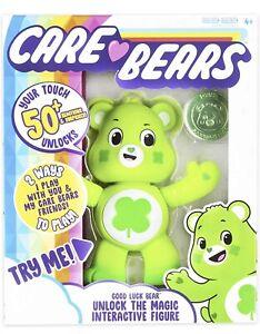 Care Bears Good Luck Bear Unlock the Magic Interactive Figure 50+ Reactions Glow