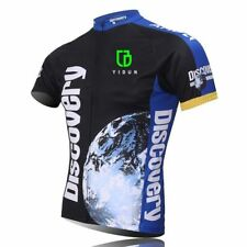 Discovery Channel Cycling Jersey Men's Short Sleeve Biking Jersey Shirt S-5XL