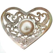 "2 3/16"" MABE PEARL IN MOTHER OF PEARL SHELL CARVING CABOCHON pearl"