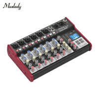 Muslady SL-8 Portable 8-Channel Console Mixer 2-band EQ for Recording DJ