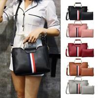 2pcs/set Hit Color Shoulder Handbags Women PU Leather Crossbody Bags Clutch