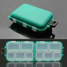 US Protable Small 10 Compartments Waterproof Case Hard Fishing Tack Lure Box