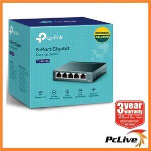 NEW TP-Link TL-SG105 V6 5-Port 1000Mbps Gigabit Desktop Switch Ethernet Steel
