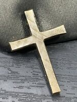 Vintage Pin Brooch gold Plated Lamode Christian Cross Micro Textured