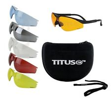9PC 6 LENS CHANGEABLE SHOOTING SAFETY GLASSES EYE PROTECTION MULTI-LENS BUNDLE